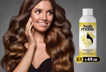 hair mask gold crema nutriente capelli